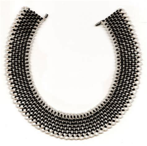black necklace pattern free pattern for necklace chess queen beads magic