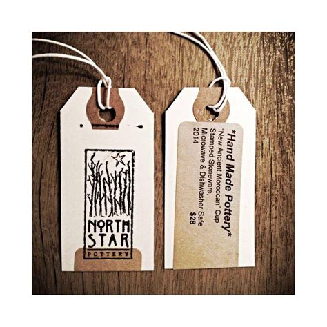 label design view label tag north star pottery hang tag customer ideas