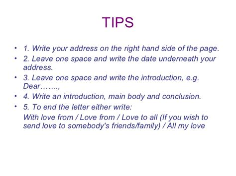 Introduction For Letter To Friend Ppt An Informal Letter