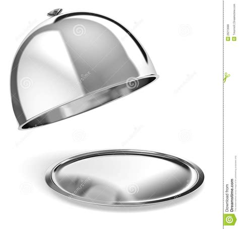 silver serving tray royalty free stock photos image