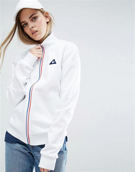 Le Coq Sportif Jacke by Le Coq Sportif Sweat Bomber Jacket With Tricolores Zip In
