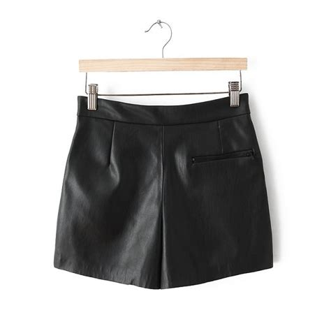 pu leather skirt shorts with zips trousers avery