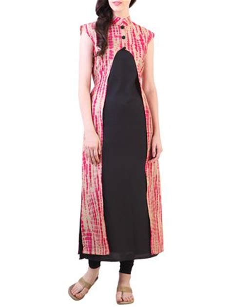 kurti pattern with jacket buy libas bandhani print jacket style kurta online