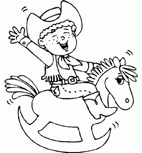 preschool rodeo coloring pages cowboy coloring pages
