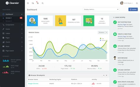 free bootstrap themes bower clearnizr responsive admin template admin dashboards