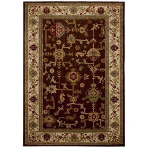 home depot mohawk area rugs mohawk home taba brown 8 ft x 10 ft area rug 313685 the home depot