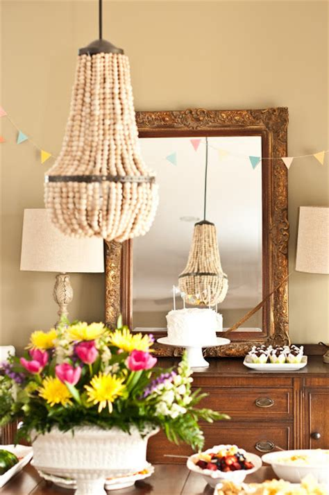 diy beaded chandelier tutorial wood bead chandelier jpg