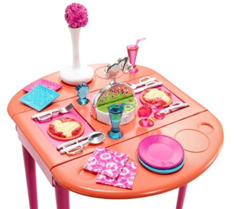 barbie dining room set barbie dinner to dessert dining room set food beverages