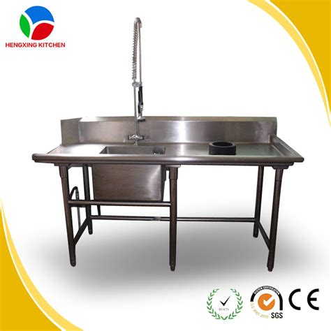 hengxing restaurant kitchen sink table self assemble