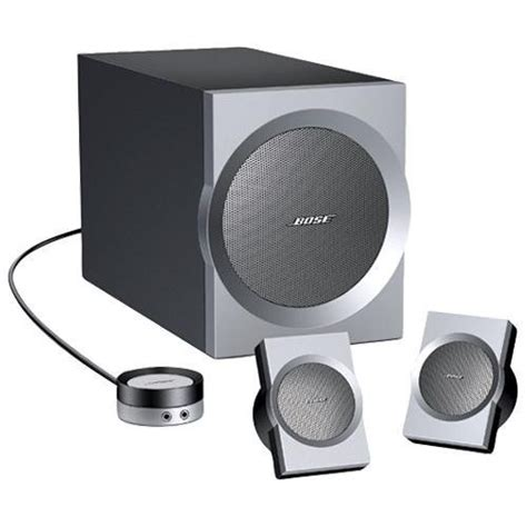 Speaker Bose Companion audio interface monitoring with 3 5mm cable and computer speakers sound design stack exchange