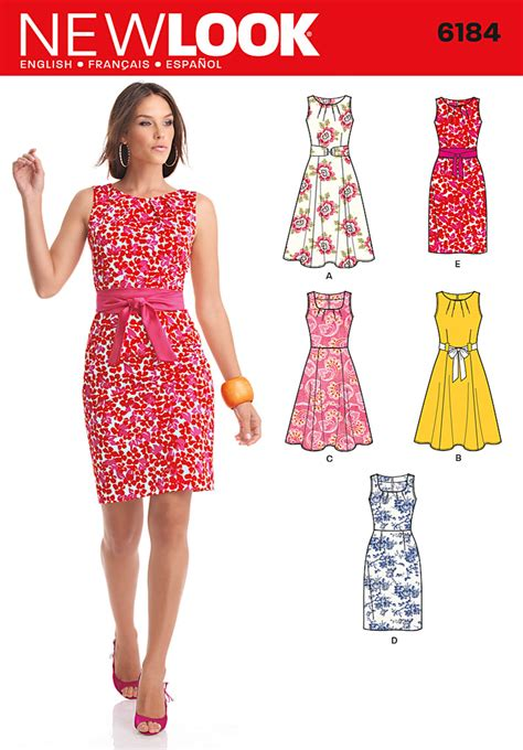 pattern making gown new look 6184 misses dress