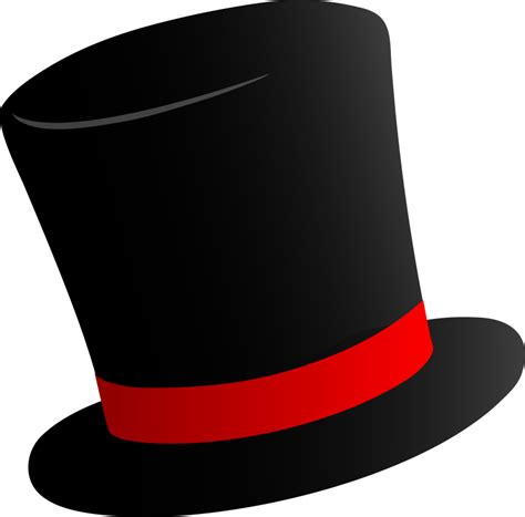 best top hat outline 14146 clipartion com