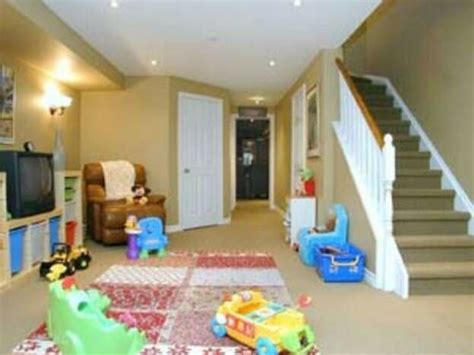 finished basement playroom for the home