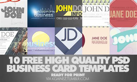 business card templates high quality 30 free high quality business card templates