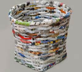 Ideas For Waste Baskets Design How To Recycle Recycled Paper Basket Tutorial