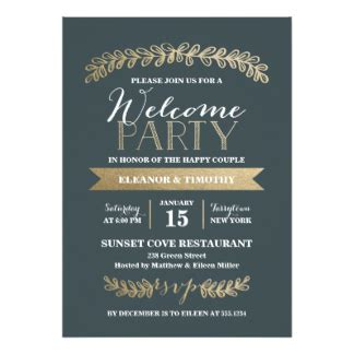 Wedding Welcome Party Invitations Announcements Zazzle Welcome Invitation Template
