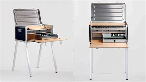Portable Office Desks This Portable Desk Is Packed With Power To Keep You Working Anywhere