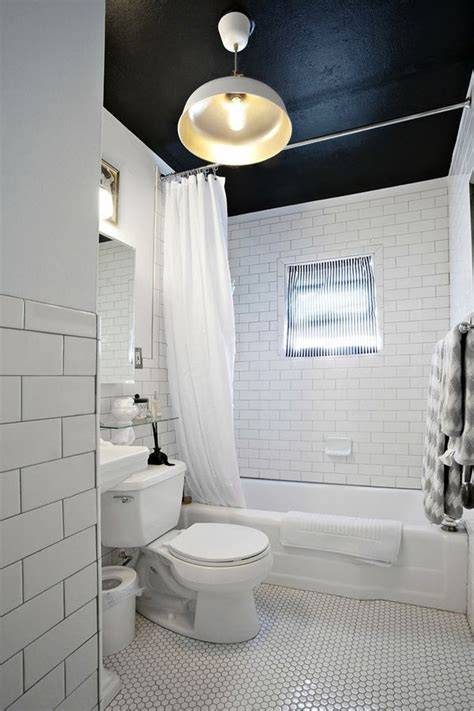 small black  white bathroom tiles ideas  pictures