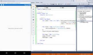 Vb Net Form Templates by Xamarin Forms Using Visual Basic Net Xamarin