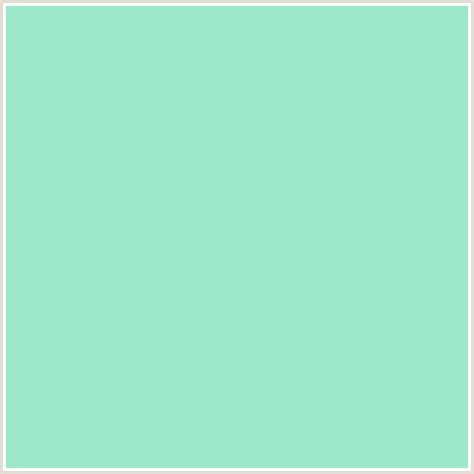 green or blue 9de7ca hex color rgb 157 231 202 green blue water