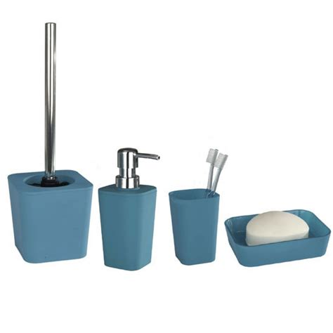 wenko rainbow bathroom accessories set turquoise at
