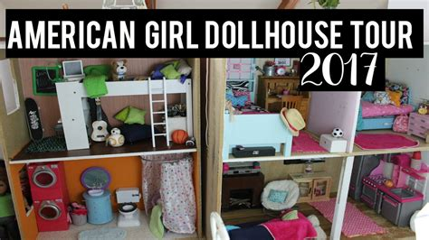 my ag doll house tour american girl doll house tour 2017 huge youtube