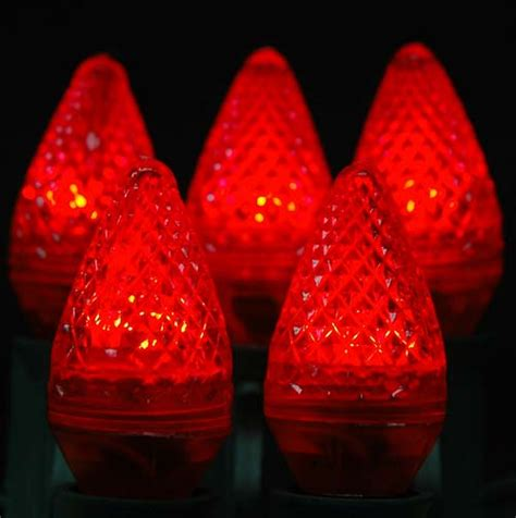 dimmable c7 led red replacement christmas lights novelty