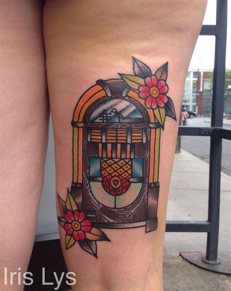 traditional jukebox tattoo tattoos piercings pinterest