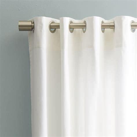 canvas curtains with grommets cotton canvas grommet curtain white west elm