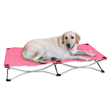 portable dog bed carlson portable pup travel dog bed pink baxterboo