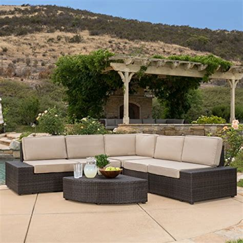 reddington outdoor wicker sectional seating sofa set with