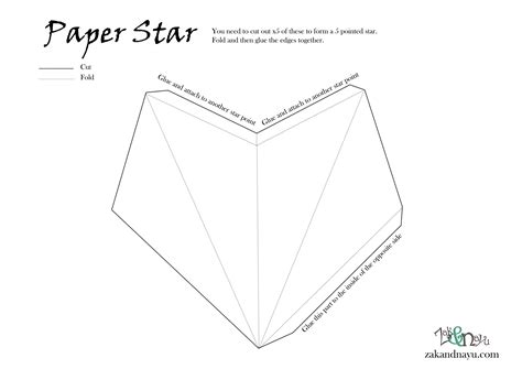 best photos of paper 3d star template 3d star