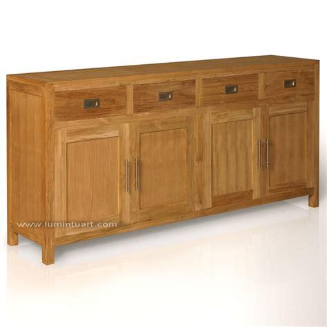 bufet minimalis polos laci pintu 4 kayu jati jepara ud