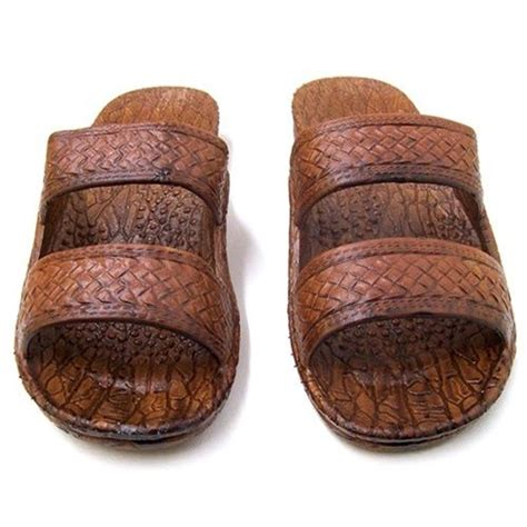 jesus slippers pali hawaii sole mate slide sandal in brown shopthedocks