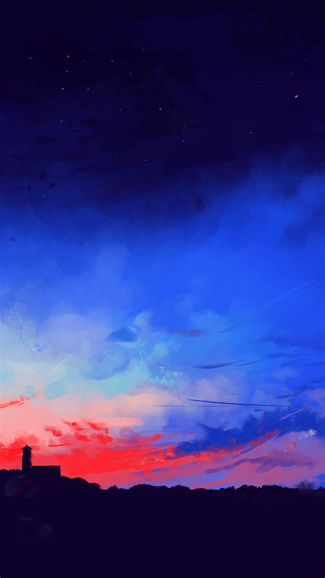 sunset painting horizon iphone wallpaper iphone wallpapers