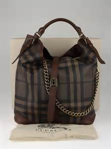 Burberry Check Canvas Hobo by Burberry Smoked Check Canvas Chain Large Hobo Bag Yoogi