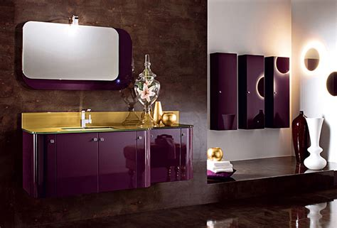 Purple Black Bathroom Ideas мойдодыр Glossy Lacquered Spot на 360 Ru цены описание