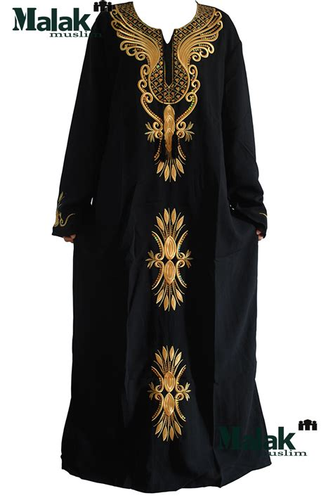 muslim dresses with embroidery aliexpress com buy free shipping kaftan jilbabs and