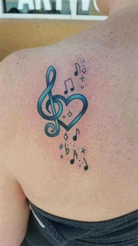 heart music tattoo designs 65 beautiful shoulder blade tattoos