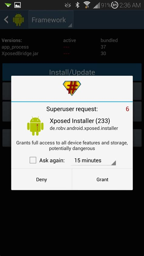 how to uninstall superuser apk how to install the xposed framework on your samsung galaxy s4 for easy softmodding
