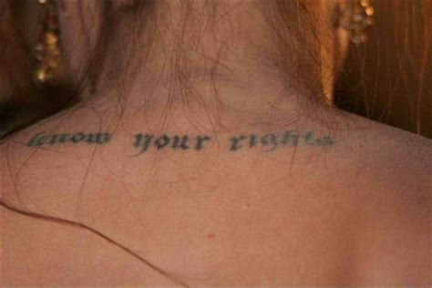 angelina jolie tattoo know your rights font angelina jolie tattoos photos and explanation