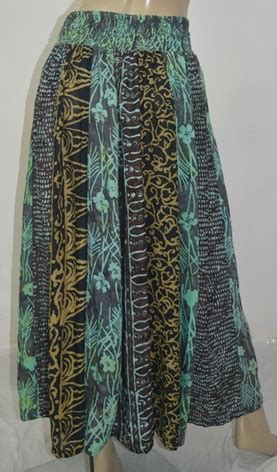 batik skirt pattern gauzy batik maxi inset skirt