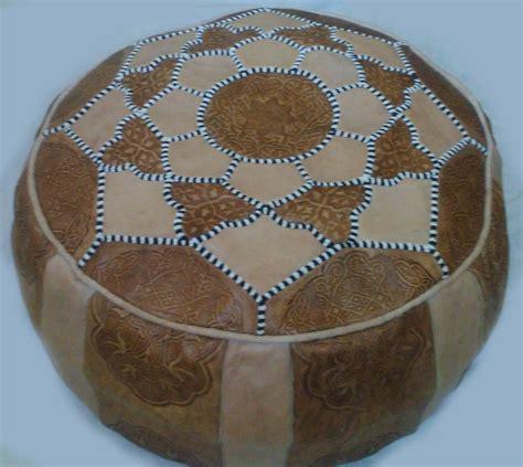 Handmade Pouffe - moroccan handmade leather pouf ottoman poof pouffe pouffes
