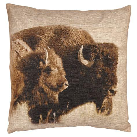 buffalo burlap pillow