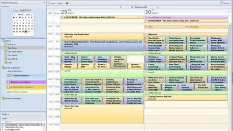 lotus notes calendar template lotus notes