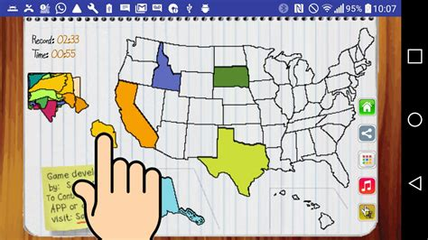 american states puzzle 2 usa map 50 states puzzle android apps on play