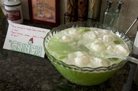 christmas glow punch recipe quot grinch quot lime sherbet punch wishes and dishes