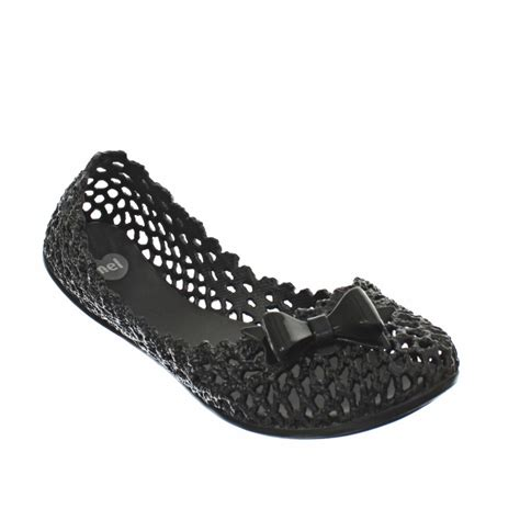 plastic flat shoes womens mel jube black jelly plastic summer flat