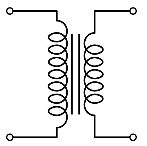 electrical transformer symbol schematic get free image