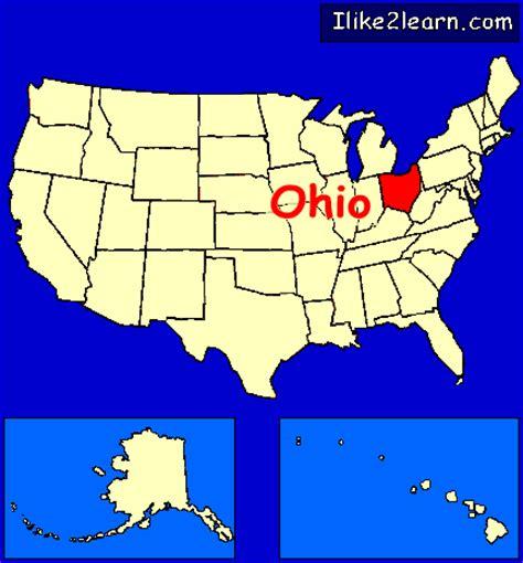united states map of ohio ohio